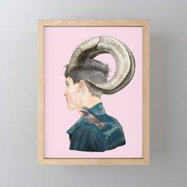 horn Framed Mini Art Print