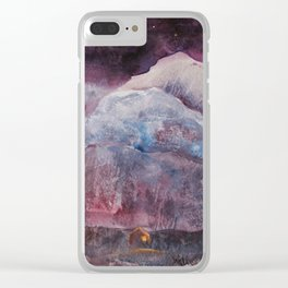 Far Apart Under the Same Sky Clear iPhone Case