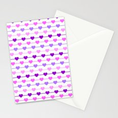 Hearts - Pink and Purple Stationery Cards