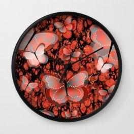 Butterfly Fantasy, Abstract Art Wall Clock