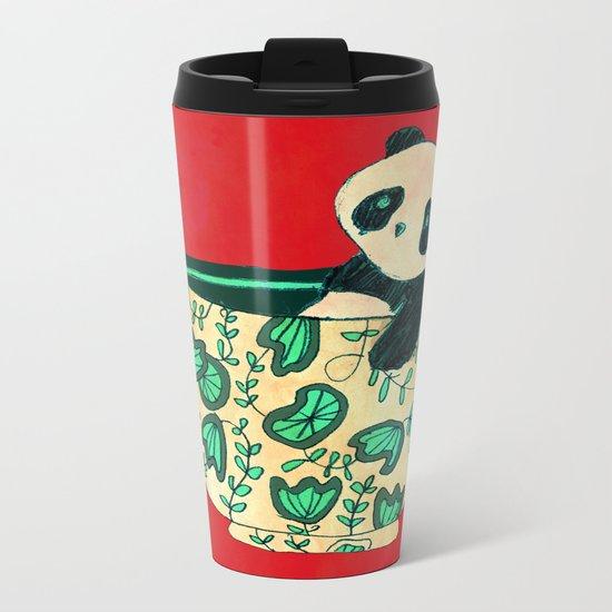 Dinnerware sets - panda in a bowl Metal Travel Mug