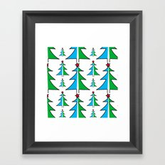 Christmas Tree Pattern Framed Art Print