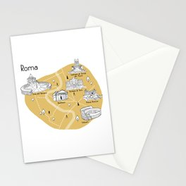 Mapping Roma - Yellow Stationery Cards