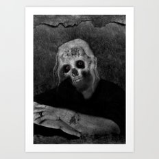 Portrait of a Zombie Art Print
