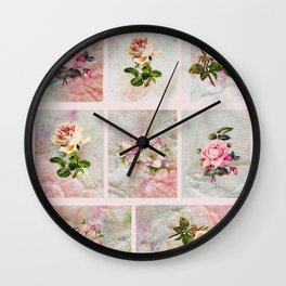 Rose Patchwork Wall Clock
