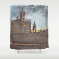 college Shower Curtains featuring Crouse College, Syracuse University by Ken Coleman
