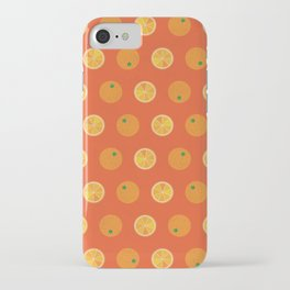 Cute Oranges Picture Pattern iPhone Case