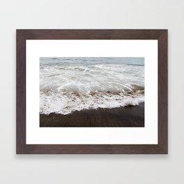 Brown Beach Framed Art Print