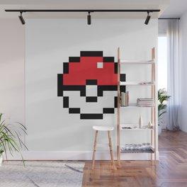 Pixel Pokeball Wall Mural