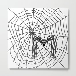 web with spider, spideypool, hegre prints illustration is inspired ... Home Decor Graphicdesign Metal Print