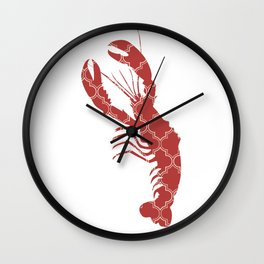 LOBSTER SILHOUETTE WITH PATTERN Wall Clock