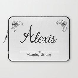 Alexis Name Laptop Sleeve