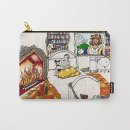 Books Coming to Life: Beauty and the Beast Carry-All Pouch