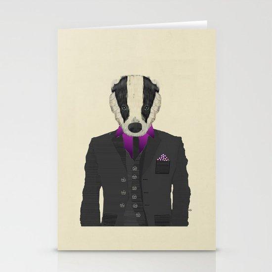 mr badger Stationery Cards