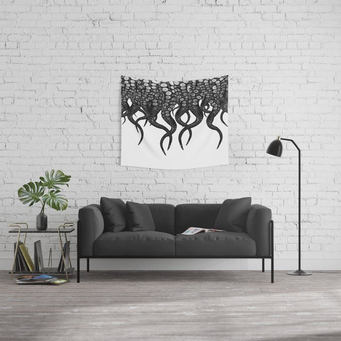 They mostly come at night ...... mostly Wall Tapestry