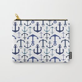 Blue Anchors Carry-All Pouch