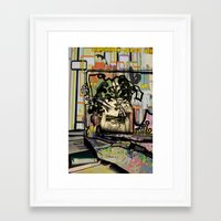 emily rickard Framed Art Prints featuring Emily by Erin Penland