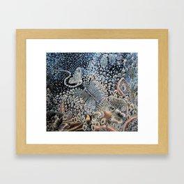 Schmetterling, Tropfen, Spray, Wasser, Kristall, Fantasie. Framed Art Print