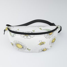 Bees and Daisies Fanny Pack