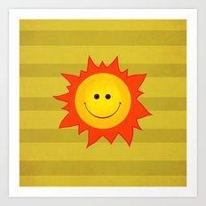 Smiling Happy Sun Art Print