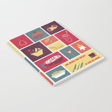 Vintage Food Collage Old Style Notebook