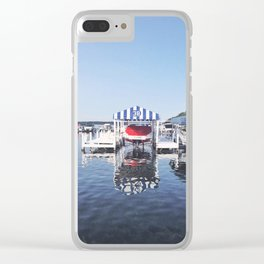Boating on the Lake, Wisconsin Clear iPhone Case