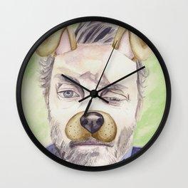 Rob Benedict, watercolor painting Wall Clock