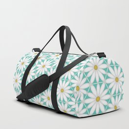 Daisy Hex - Turquoise Duffle Bag