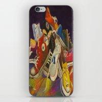 sneakers iPhone & iPod Skins featuring Sneakers by Jocelyn Mendoza
