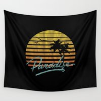 paradise Wall Tapestries featuring Paradise by Anthony Troester