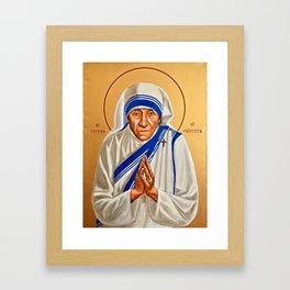 Saint Teresa of Calcutta (Mother Teresa) Framed Art Print