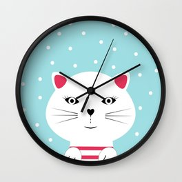 Kitten cat Wall Clock
