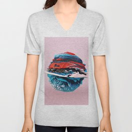 ACRYLIC BALL ABSTRACT // 3D ABSTRACT Unisex V-Neck