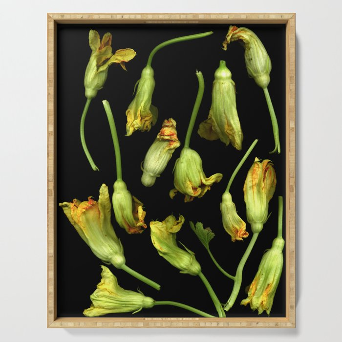 Squash Blossoms Serving Tray