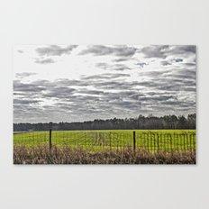 Winter Farming Canvas Print
