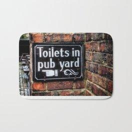 Victorian Pub Sign Bath Mat