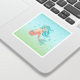 Monster Mermaid Pin-Up Sticker
