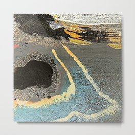 The Golden Path - an abstract, textured piece in neutrals by Jacob von Sternberg Art Metal Print