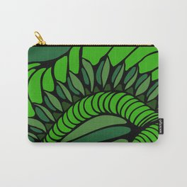 Shell in Abstract Green Carry-All Pouch