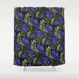 Aechmea Fasciata - Blue/Green Shower Curtain