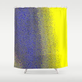 Color Blue color yellow Shower Curtain