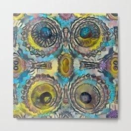 4 Pinnacle Colored Warts Metal Print