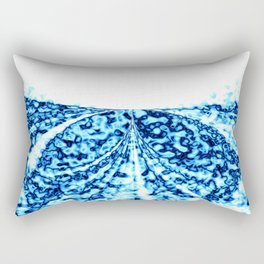 Bright Blue Marbling and Geode Stone Crystal Look Rectangular Pillow
