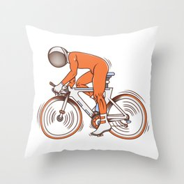 All I wanna do is bicycle Throw Pillow