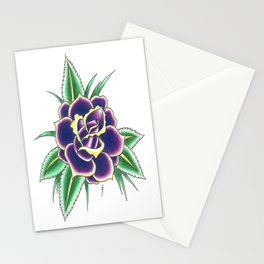 Neo-Traditional Rose Stationery Cards