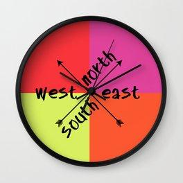 North South Wall Clock