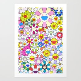 mukarami flowers Art Print