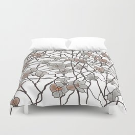 pattern of branches in pastel colors art Duvet Cover