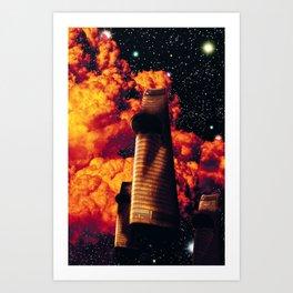 Spaceship Space Travel Dreamscape Art Print