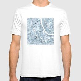 Map Nashville Tennessee Blueprint City Map T-shirt